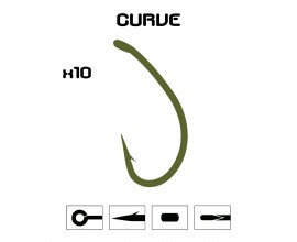 Anzuelo Mod. Curve - 10 unidades