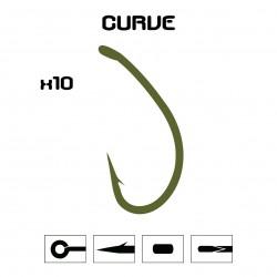 Anzuelo Mod. Curve - OLIVA - 10 unidades