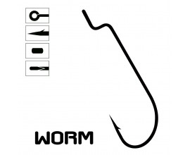Anzuelo Mod. WORM - 10 unidades