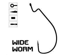 WIDE WORM Hook - Bag of 10